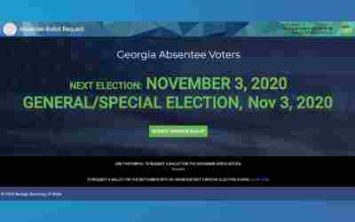 Georgia launches online absentee ballot request system
